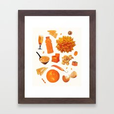 ORANGE II Framed Art Print