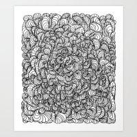 Squigg Block Art Print