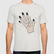 Sleight Of Hand Mens Fitted Tee Silver SMALL