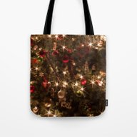 Tote Bag featuring Christmas Tree. by Assiyam