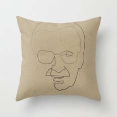 One Line Stan Lee Throw Pillow