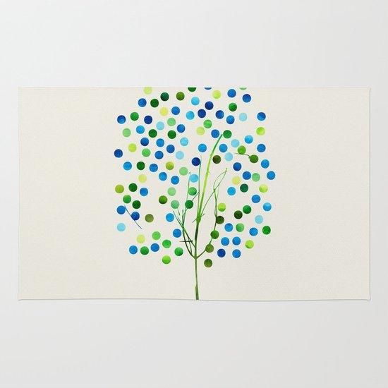 Tree of Life_Aqua by Jacqueline and Garima Area & Throw Rug