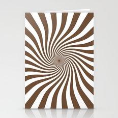 Swirl (Coffee/White) Stationery Cards