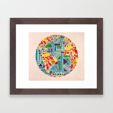 And then, there was Earth. Framed Art Print