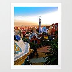 Barcelona - Gaudí's Park Güell Art Print