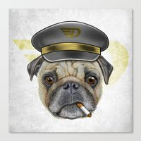 Pug Commander  Canvas Print