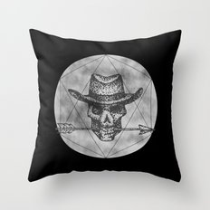 Dead Sheriff on dark Throw Pillow
