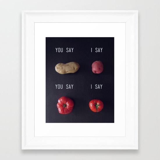 Let's Call the Whole Thing Off Framed Art Print