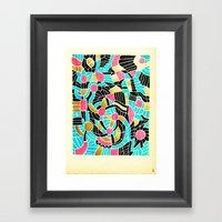 - summer jump - Framed Art Print