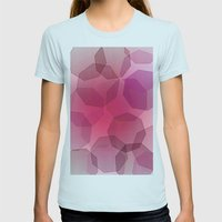 Octa-bokeh. Womens Fitted Tee Light Blue SMALL