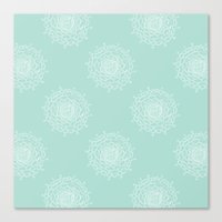 Seaglass Chrysanthemum Canvas Print