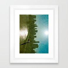 Baseball Sky Framed Art Print