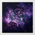 Magical Evening Floral Abstract Canvas Print