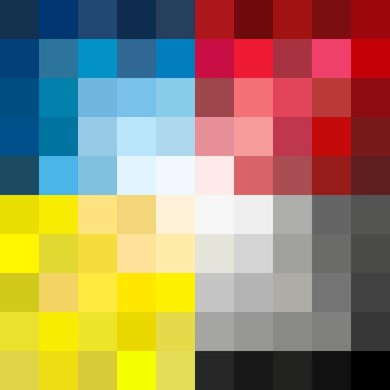 CMYK Pixel Art Print