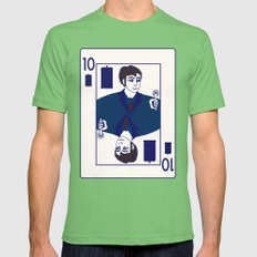 Ten of Tardis Mens Fitted Tee Grass SMALL
