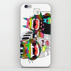 Totoro fan art (cat bus) by Luna Portnoi iPhone & iPod Skin