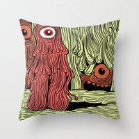 MonsterMold Throw Pillow