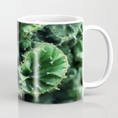 Emerald green Cactus Botanical Photography, Nature, Macro, Mug