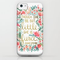 iPhone Cases featuring Little & Fierce by Cat Coquillette