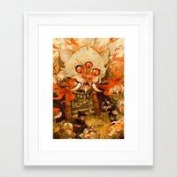 The Terror on Tashirojima Island Framed Art Print