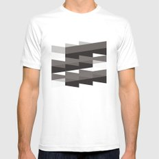 Aronde Pattern #02 Mens Fitted Tee SMALL White