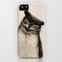 iPhone Cases featuring Owl Sketch by Isaiah K. Stephens