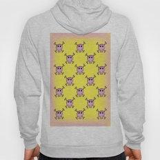 Pink Lemonade Punk Skulls Hoody