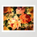 Vintage Painterly Floral Abstract Art Print