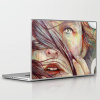portrait Laptop & iPad Skins featuring Opal by Michael Shapcott