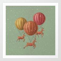 Flight of the Deer Art Print