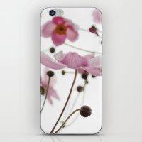 Pink Wild Flowers iPhone & iPod Skin