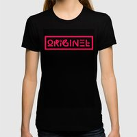 Originel rouge Womens Fitted Tee Black SMALL