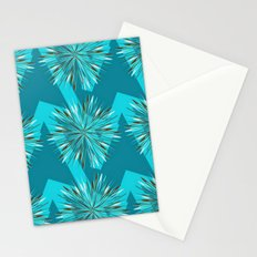 Arrow Bursts in Teal Stationery Cards