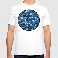 Blue Blade Painting Mens Fitted Tee White SMALL
