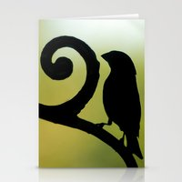 Bird on the Ironwork Stationery Cards