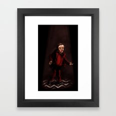 Twin Peaks - The Man from Another Place Framed Art Print