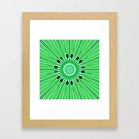 Digital art kiwi Framed Art Print