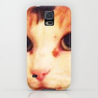 Galaxy S5 Cases featuring Old cat Carly by Michael Childs Designs (Mc-designs)