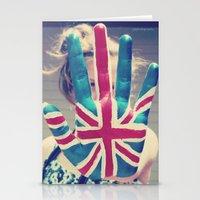 british flag love Stationery Cards
