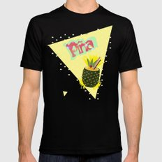 PINEAPPLE Black SMALL Mens Fitted Tee