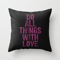 PINK Quote Throw Pillow