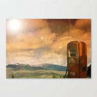 Old Fuel Pump Canvas Print