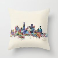 Los Angeles California S… Throw Pillow