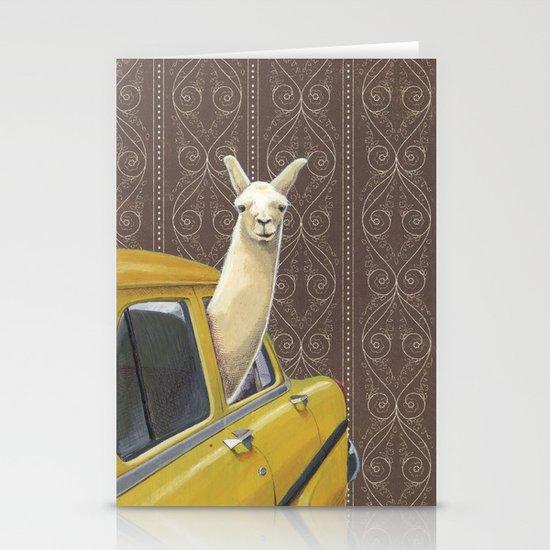 Taxi Llama Stationery Card