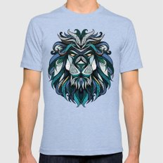 Blue Lion Mens Fitted Tee Tri-Blue SMALL