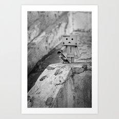 Danbo Skater Art Print
