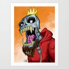 Jackhook Metal Skeleton Art Print