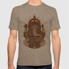 Ganesha: Lord of Success Mens Fitted Tee Tri-Coffee SMALL