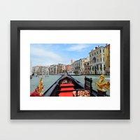 Gondola Ride in Venice Framed Art Print