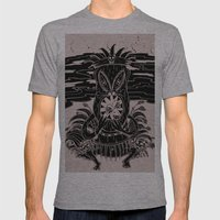 Tiki Lunch Mens Fitted Tee Athletic Grey SMALL
